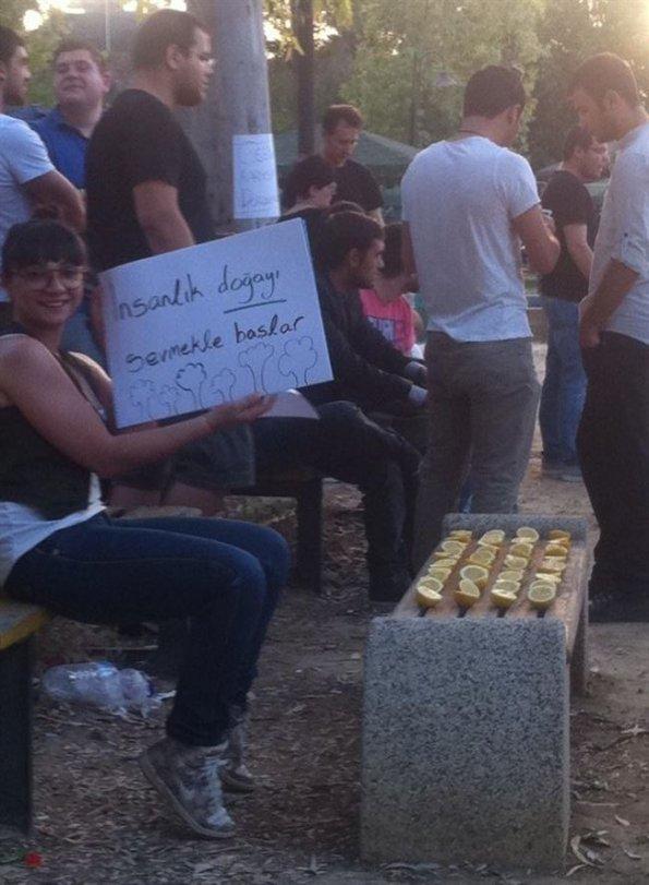 Gezi Parkı'nda yaşanan olaylara bir destekde yavru vatan Kıbrıs'tan geldi.. Sosyal medyada başlayan çağrılar sonunda yüzlerce Kıbrıslı Kuğulu Park'ta buluş