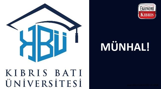 Kıbrıs Batı Üniversitesi münhal açtı...