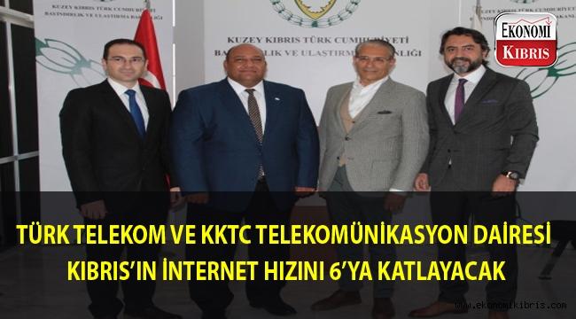 Kuzey Kıbrıs'ın internet hızı 6 kat artacak...