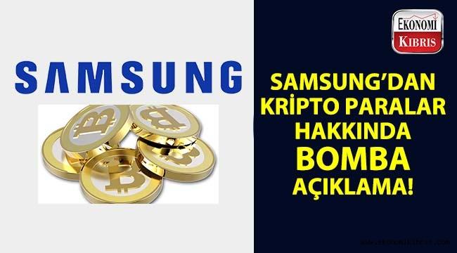 Samsung'dan kripto para duyurusu!..
