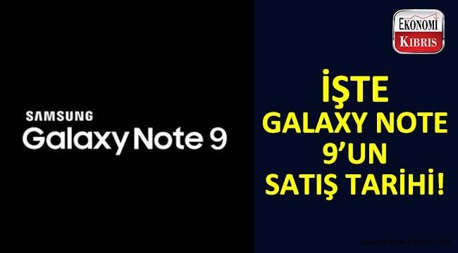 Samsung Galaxy Note 9'un satış tarihi...