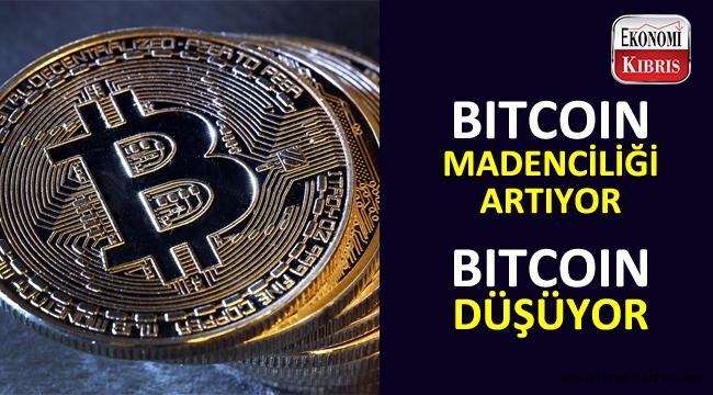 Bitcoin değer kaybederken madencilik faaliyetleri yükselişte!