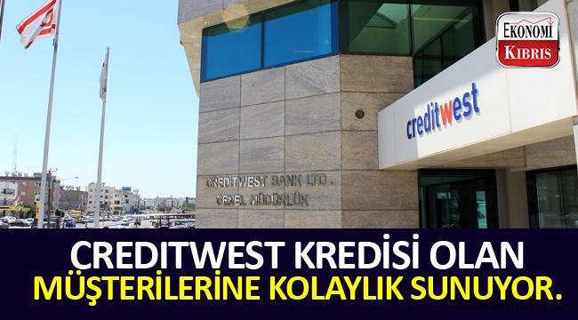 Creditwest Bank kredisi olan müşterilerine ödeme kolaylığı sunuyor.