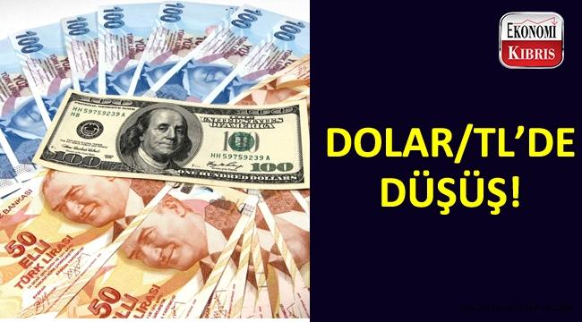 Dolar/TL'de düşüş gözlendi.