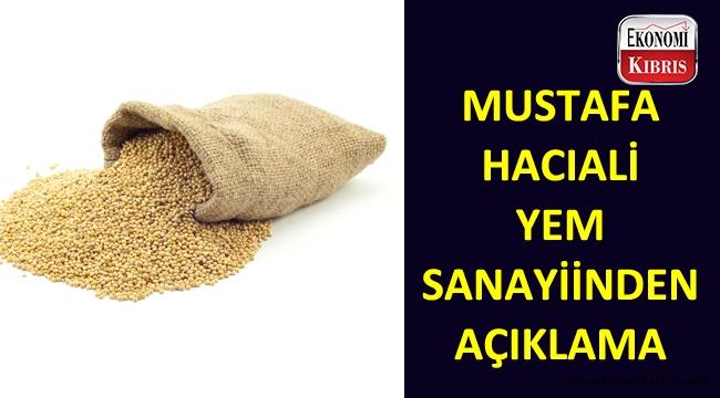 Mustafa Hacıali İşletmeleri Yem Sanayiinden açıklama!