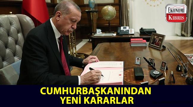 Cumhurbaşkanı Erdoğan'dan yeni kararlar...