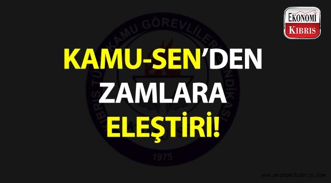 KAMU-SEN'den zamlara eleştiri!..