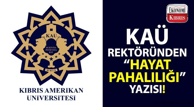KAÜ rektöründen basın bülteni: