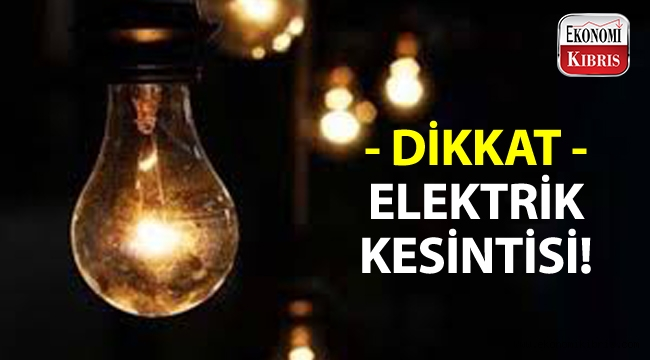 Dikkat! 6 saatlik elektrik kesintisi olacak!..