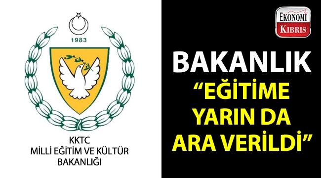 Milli Eğitim ve Kültür Bakanlığı, yarın da okulların tatil olduğunu açıkladı!..