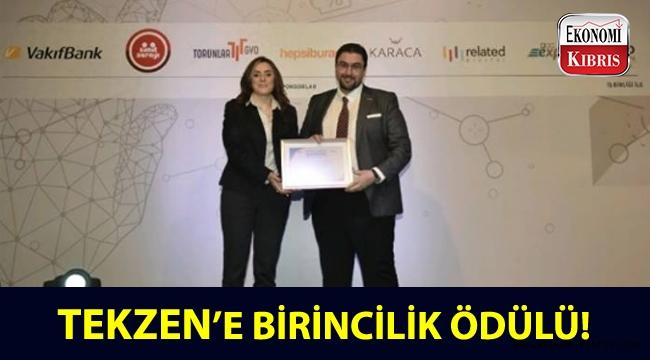 Tekzen, Capital ve Ekonomist Dergileri tarafından düzenlenen ödül töreninde birincilik ödülü aldı!..
