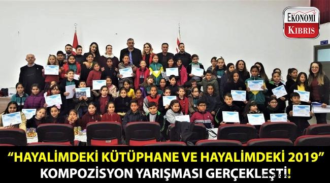 """Akdoğan Halk Kütüphanesinin düzenlediği """"Hayalimdeki Kütüphane ve Hayalimdeki 2019"""" konulu kompozisyon yarışması gerçekleşti!.."""