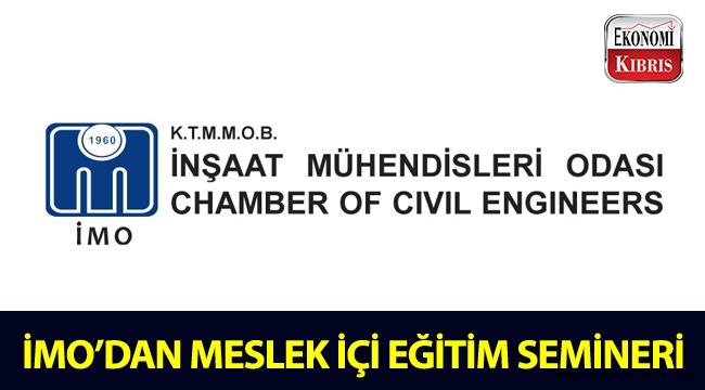 """İMO'dan """"Türkiye Bina Deprem Yönetmeliği (TBDY-2018) - Basitleştirilmiş Betonarme Bina Tasarımı"""" konulu eğitim semineri!.."""