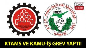 KTAMS ve KAMU-İŞ, Girne Mahkemesinde uyarı grevi yaptı!..