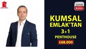 Kumsal Emlak'tan oldukça avantajlı fiyata satılık penthouse!..