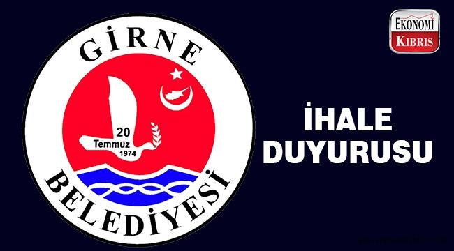 Girne Belediyesi ihale duyurusu..