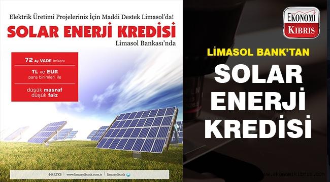 Solar enerji kredisi Limasol Bank'ta..
