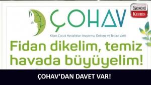 Kıbrıs Çocuk Hastalıkları Araştırma, Önleme ve Tedavi Vakfı Alsancak Özgürlük Milli Parkı'na fidan dikecek!