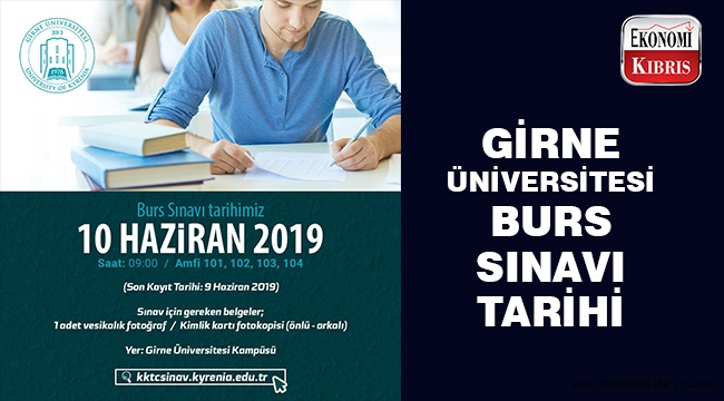 Girne Üniversitesi 2019 Burs Sıralama Sınavı 10 Haziran'da Yapılacak…