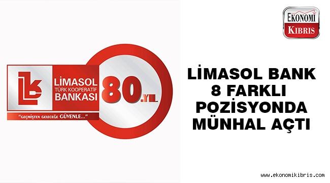 Limasol Bank 8 pozisyonda münhal açtı..