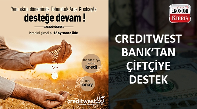 Creditwest yeni ekim döneminde çiftçilerin yanında..