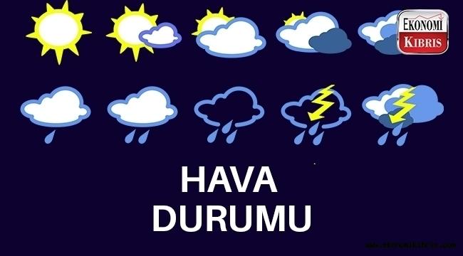 10 Aralık Salı Kıbrıs hava durumu.