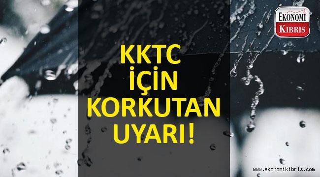 KKTC için korkutan sağanak yağış uyarısı!