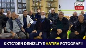 KKTC Cumhurbaşkanı Ersin Tatar'dan Denizli'ye Fenerbahçeli hatıra fotoğrafı!