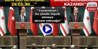 Akıncı ile Erdoğan'ın basın toplantısı..